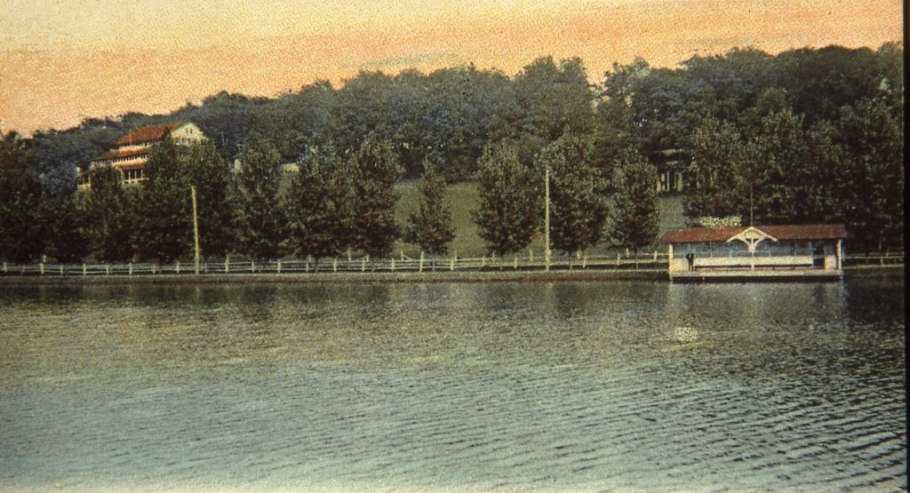 Boathouse and Lake