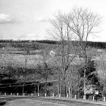View of Ringing Hill from N. Keim St. Note the beginning of St. Al's cemetery left of center on Buchert Road.