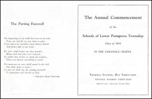 1934 Commencement Program for Lewis Babel Sr.