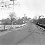 Sunnybrook Bridge. Note trolley tracks along right side of road.